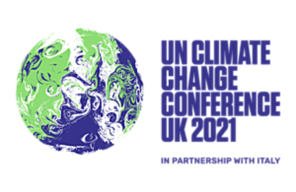 Logo for COP26 UN climate summit in Glasgow, 2021