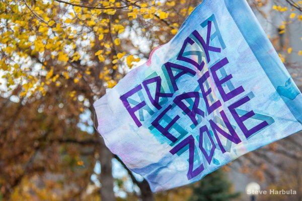 Frack free zone protests