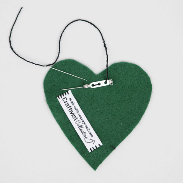 Green Heart. Image: Craftivist Collection