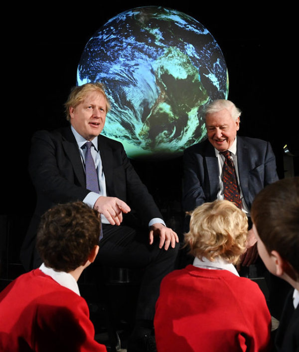 The NDC will be the first international test of Boris Johnson's claim to be a climate leader. Image: Number10