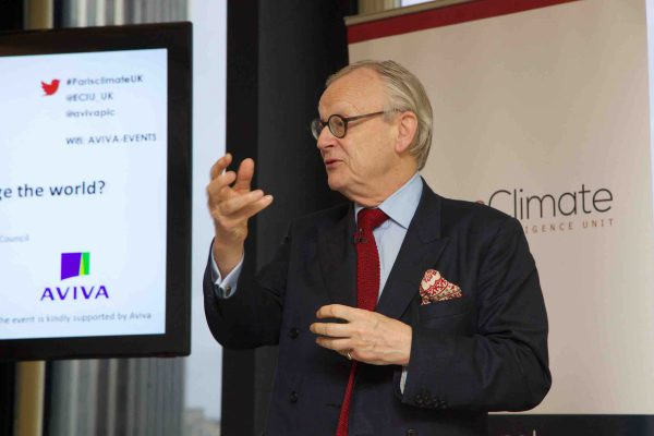Lord Deben is Chairman of the UK's independent Committee on Climate Change.