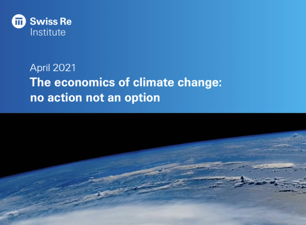 Cover of SwissRe report on economics of climate change