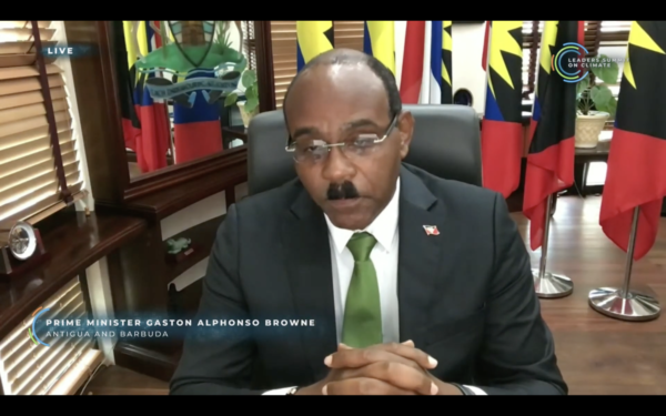 Gaston Browne, Prime Minister of Antigua & Barbuda   Leaders' Summit on Climate