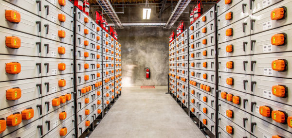 Battery storage: Costs coming down, but still significant. Image: Portland General Electric, Creative Commons