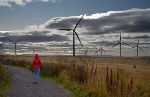 Whitelee windfarm in Glasgow, Scotland