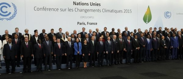 Global leaders united in 2015 to sign the Paris Agreement. Photo by World Economic Forum