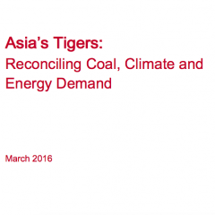 Asia's Tigers: Reconciling Coal, Climate and Energy Demand