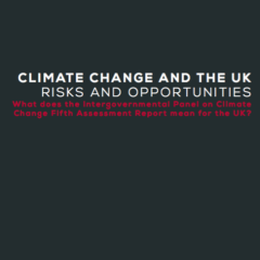 Climate change and the UK: risks and opportunities