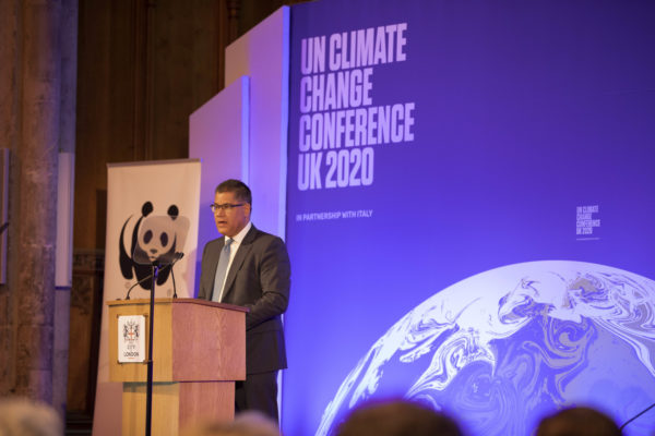 COP26 President Alok Sharma emphasised the role of a 'green' Covid-19 recovery. Image: Bank of England, CCL