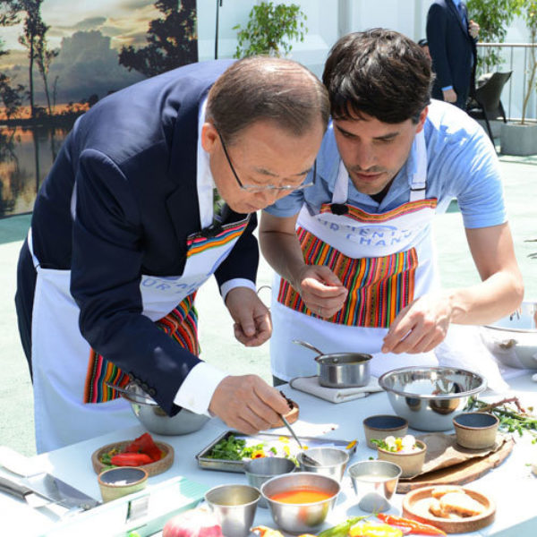 UN Secretary-General Ban Ki-moon will help find the magic recipe over the coming year. Image: UNclimatechange, Creative Commons licence
