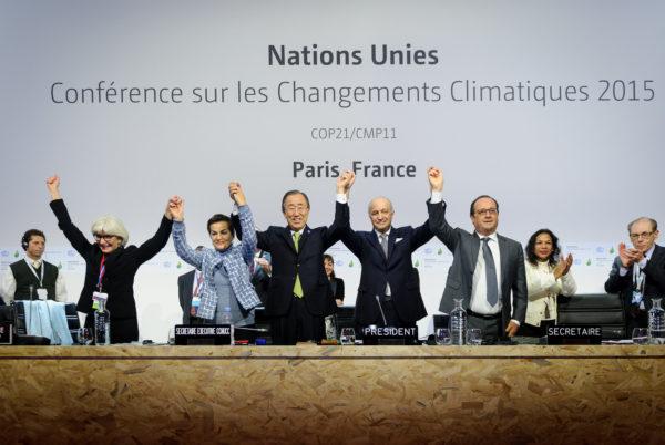 Paris 2015: two years of careful diplomacy pays off. Image: COP-Paris, CCL