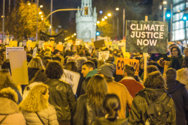 Protestors took to the streets at the Madrid climate summit. Image: Friends of the Earth International