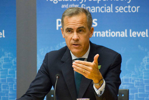 Mark Carney has acknowledged climate change as a threat to financial assets. Image: Bank of England, Creative Commons licence