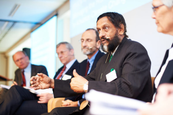 Rajendra Pachauri is chairman of the IPCC, Copyright: © Belspo / Nevens, Creative Commons licence