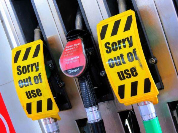 Out of order diesel pump