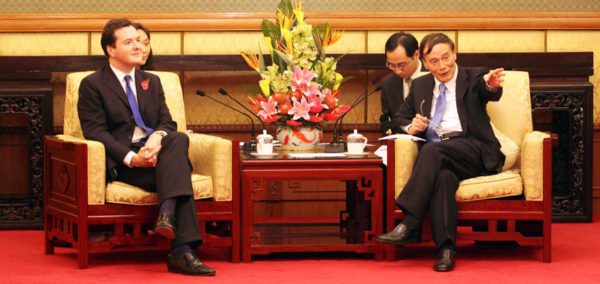 Chancellor George Osborne and Chinese Vice-Premier Wang Qishan: the Hinkley finance deal was finalised in highly scripted meetings last year. Image: HM Treasury, Creative Commons licence