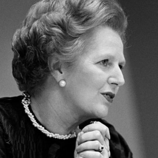 Urging a United Nations climate treaty... UK Prime Minister Margaret Thatcher in 1989. Image: UN Photo / Yutaka Nagata