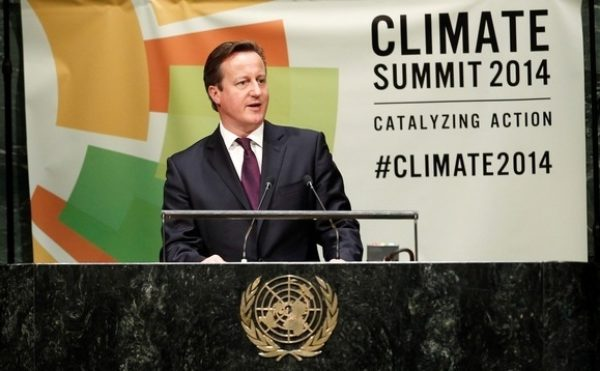 David Cameron was intimately involved in developing the SDGs. Image: RTCC