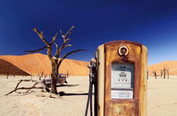 Deserted petrol station