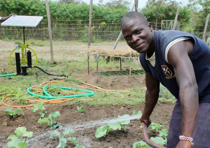 A solar-powered irrigation system in Kenya. Image: FuturePump Ltd