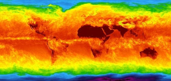 Climate model of the Earth