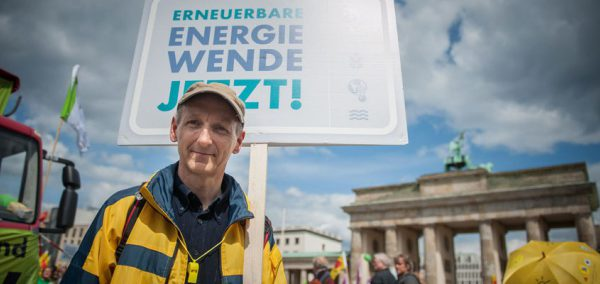 Member of the public campaigning