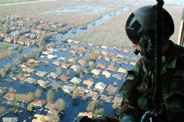 Flooding in New Orleans by US Air Force