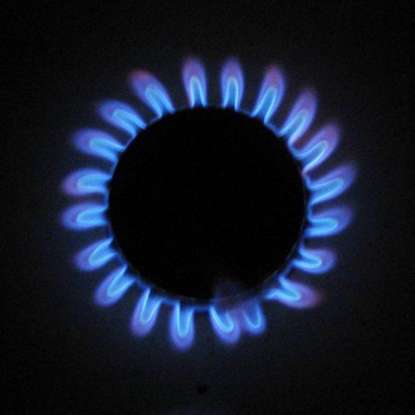 Lit gas hob